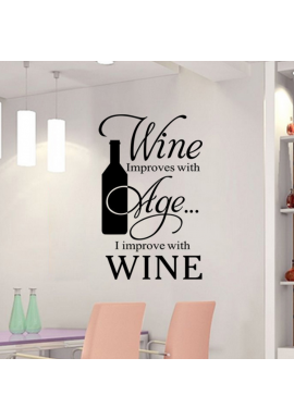 Wine improves with age-wallsticker