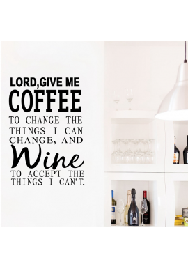 Lord, give me coffee-wallsticker