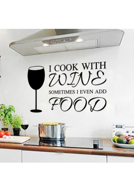 I cook with wine-wallsticker